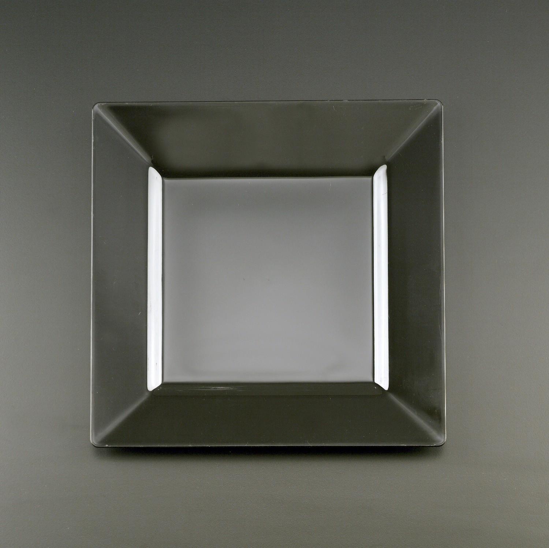10u201d Square Black Plate & Square Black Plate